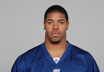 EAST RUTHERFORD, NJ - 2005:  Derek Wake of the New York Giants poses for his 2005 NFL headshot at photo day in East Rutherford, New Jersey.  (Photo by Getty Images)
