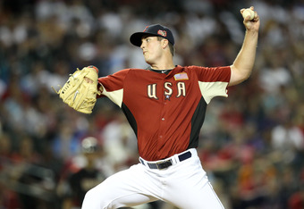 PHOENIX, AZ - JULY 10:  U.S. Futures All-Star Drew Pomeranz #51 of the Cleveland Indians throws a pitch against the World team during the 2011 XM All-Star Futures Game at Chase Field on July 10, 2011 in Phoenix, Arizona.  (Photo by Christian Petersen/Gett