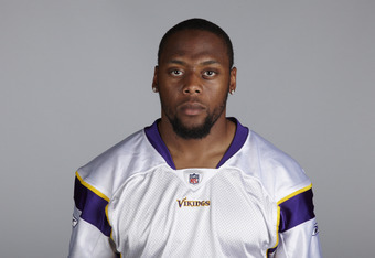 EDEN PRAIRIE, MN - CIRCA 2010:  In this handout image provided by the NFL,  Erin Henderson poses for his 2010 NFL headshot circa 2010 in Eden Prairie, Minnesota.  (Photo by NFL via Getty Images)