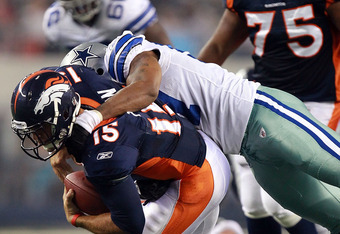 Victor Butler led the Cowboys in tackles on the night with five.