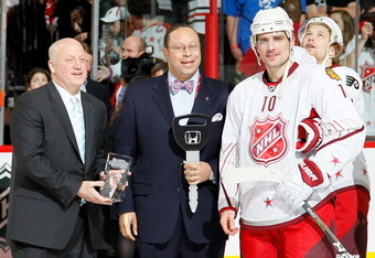 Patrick Sharp was named MVP of the 2011 NHL All-Star Game