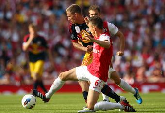 Laurent Koscielny proving himself as a reliable centreback
