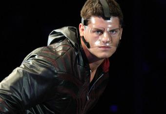 The horribly disfigured Cody Rhodes