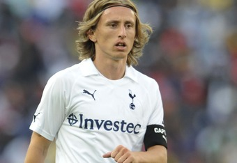 JOHANNESBURG, SOUTH AFRICA - JULY 23:  Luka Modric of Tottenham in action during the 2011 Vodacom Challenge final match between Orlando Pirates and Tottenham Hotspur at Coca Cola Stadium on July 23, 2011 in Johannesburg, South Africa.  (Photo by Lefty Shi
