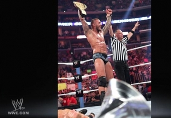 Randy Orton wins the World Heavyweight Championship, and potentially ends Christian's run at the top.