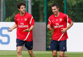 Robin Van Persie will be taking over as captain for the departed Cesc Fabregas.