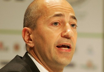 SANDTON, SOUTH AFRICA - NOVEMBER 26:  Ivan Gazidis, deputy Commissioner of MLS, speaks at the opening ceremony of Soccerex 2007 at Sandton Convention Centre on November 26, 2007 in Sandton, South Africa. The 11th annual event will bring together delegates