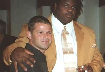 Shapiro with Vince Wilfork