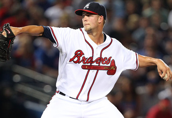 Mike Minor earned the victory on Friday, beating the  Cubs 10-4