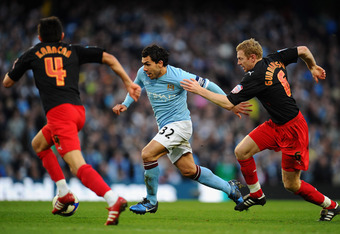 Because of City's style of play, Carlos Tevez or whoever leads City's attack is asked to do a lot by themselves.