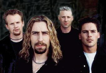 Osgood with the rest of Nickelback.