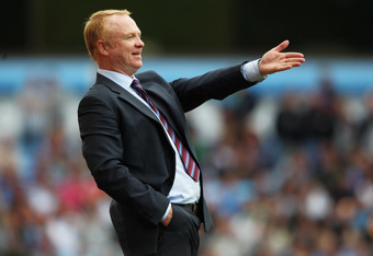 Aston Villa Manager, Alex McLeish  (Photo by Dean Mouhtaropoulos/Getty Images)