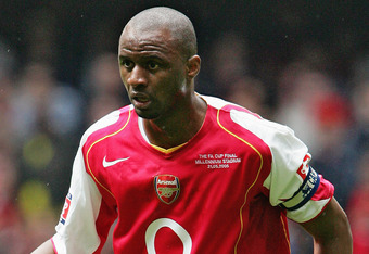 CARDIFF, UNITED KINGDOM - MAY 21:  Patrick Vieira of Arsenal in action during the FA Cup Final between Arsenal and Manchester United at The Millennium Stadium on May 21, 2005 in Cardiff, Wales.  Arsenal won 5-4.  (Photo by Phil Cole/Getty Images)