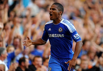 LONDON, ENGLAND - AUGUST 20:  Florent Malouda of Chelsea celebrates after scoring his team's second goal during the Barclays Premier League match between Chelsea and West Bromwich Albion at Stamford Bridge on August 20, 2011 in London, England.  (Photo by Laurence Griffiths/Getty Images)