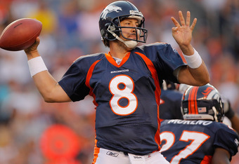 Kyle Orton brought his veteran leadership back to the Denver Broncos this season for better or worse... so far it's much better.