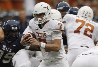 Expect some great one yard runs out of the Longhorns  this year.