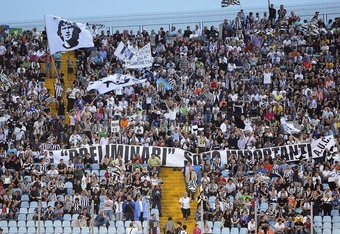UDINE, ITALY - MAY 22:  Udinese supporters display a banner which reads 'Preliminari Sono Importanti' during the Serie A match between Udinese Calcio and AC Milan  at Stadio Friuli on May 22, 2011 in Udine, Italy.  (Photo by Dino Panato/Getty Images)
