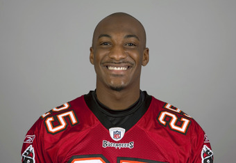 TAMPA BAY, FL - CIRCA 2010:   In this handout image provided by the NFL, Aqib Talib of the Tampa Bay Buccaneers NFL football team is seen posing for a portrait taken in 2010 in Tampa Bay, Florida. This image reflects the Tampa Bay Buccaneers active roster of 2010 when this image was taken. (Photo by NFL via Getty Images)