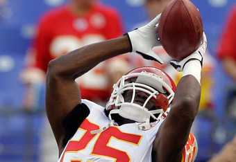Jamaal Charles should see his first action as a feature back this season, if so, expect huge numbers