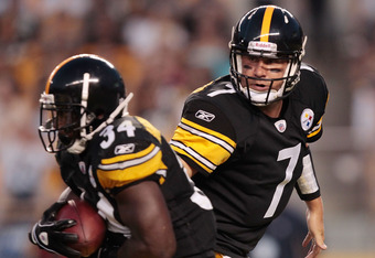 having Ben for a full season should drastically increase Mendenhall's numbers as teams scramble to stop the Steelers