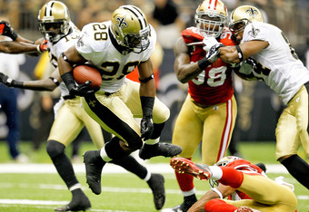 Rookie Mark Ingram should lead the Saints in rushing touchdowns.