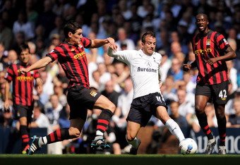 A change of formation may help ease the burden on Rafael van der Vaart.  (Photo by Michael Regan/Getty Images)