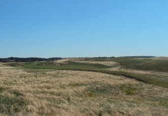 The vast openness at Erin Hills....