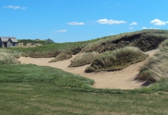 A bunker at Erin Hills is indeed a hazard.