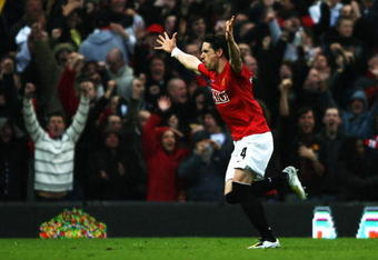 Owen Hargreaves scored a monster goal against Arsenal to help Man United win the 2008 Premier League