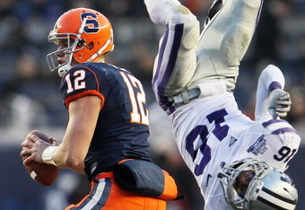 Ryan Nassib's play helped Syracuse defeat Kansas State in the Pinstripe Bowl