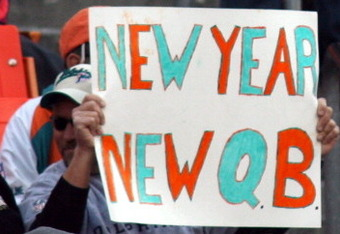 Henne's performance last season lead to fans bringing in signs like this one a fan brought in during for the Dolphins' match up against Detroit last season.