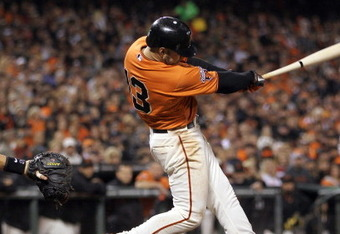 Ross' homer punctuated the 6-2 Giants win