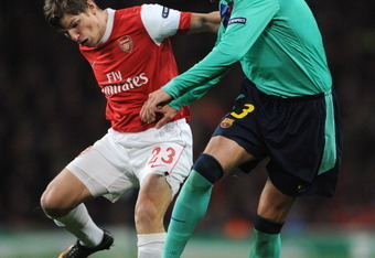 Andrey Arshavin ends up scoring the game winner in the 83 minutes.