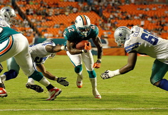 Undrafted rookie Nic Grigby will serve as the Dolphins' fourth running back in practice.
