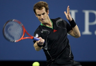 NEW YORK, NY - SEPTEMBER 04:  Andy Murray of Great Britain returns a shot against Feliciano Lopez of Spain during Day Seven of the 2011 US Open at the USTA Billie Jean King National Tennis Center on September 4, 2011 in the Flushing neighborhood of the Qu