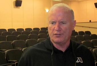 Coach Ellerson accepted responsibility for performance. (K. Kraetzer)