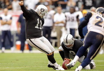 "If the Raider offense can't get it going, ""Seabass"" may be a very busy man this season."