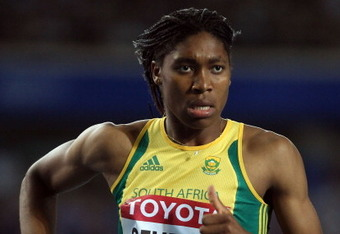DAEGU, SOUTH KOREA - SEPTEMBER 04:  Caster Semenya of South Africa runs to second place in the women's 800 metres final during day nine of 13th IAAF World Athletics Championships at Daegu Stadium on September 4, 2011 in Daegu, South Korea.  (Photo by Chri