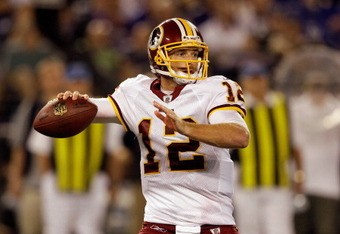 John Beck will be the Redskins backup quarterback to start the season.