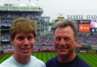 Mike and his son Matt visit Yankee stadium