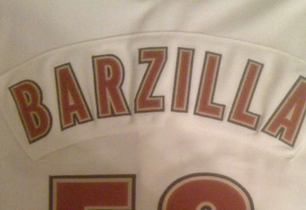 Jersey worn by my cousin, Philip Barzilla