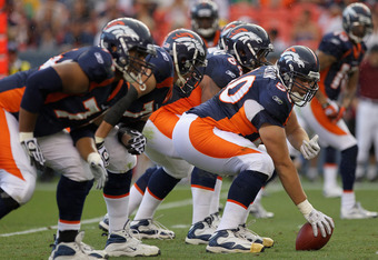 Look for Denver's offensive line to step it up this year.