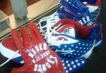 Gloves and Shoes Briggs plans to wear on Sunday