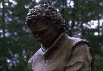27 Apr 1997:  A monument to the late formula one driver, Ayrton Senna  who died in 1994 during the San Marino Grand Prix in Imola.  \ Mandatory Credit: Mike Cooper /Allsport