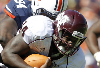 Chris Relf, who some say resembles Cam Newton, was inches away from a game tying touchdown at Auburn.
