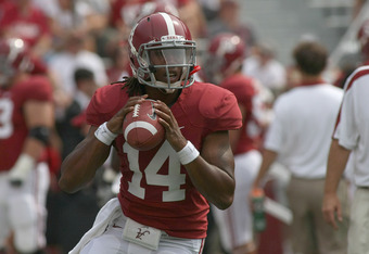 Sims, a promising prospect, likely won't start for the Tide this year.
