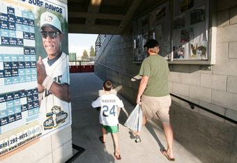 A father taking his son to a baseball game can be a special expreience
