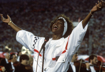 Does it get any better than Whitney at the Super Bowl?