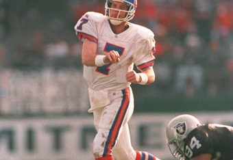 Kyle Orton has numbers that compare with John Elway?  It's true.