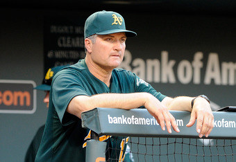 Bob Geren compiled a 334-376 record as manager of the A's